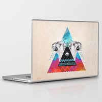 fierce Laptop & iPad Skins featuring Fierce Lion by Kangarui by Rui Stalph