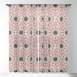 Black stars pattern Sheer Curtain