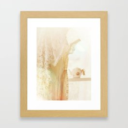 lace and sunlight Framed Art Print