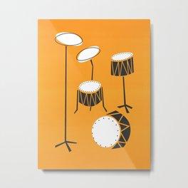 Drum Kit Drummer Metal Print