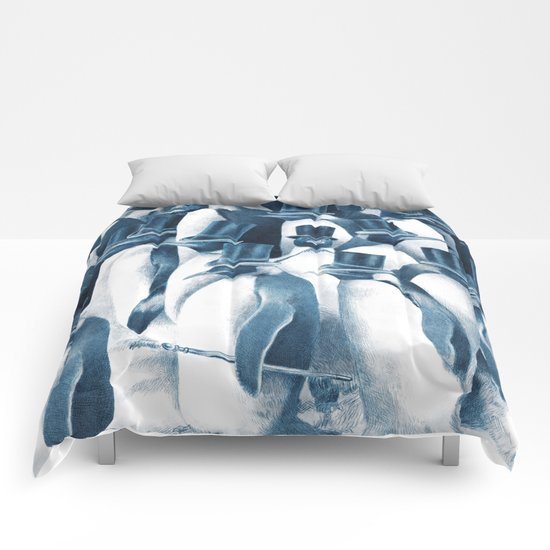 A Gathering of Gentlemen (square format) Comforters