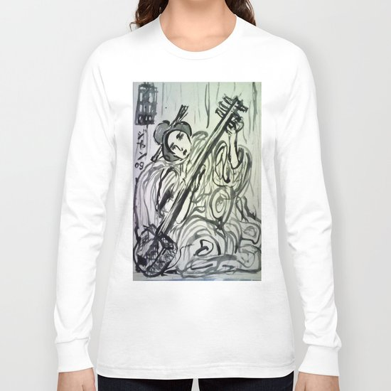 GEISHA MUSICIAN Long Sleeve T-shirt