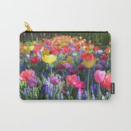 Blooming Spring Tulips Carry-All Pouch