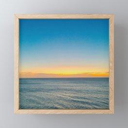 Orange and Blue Horizon Framed Mini Art Print