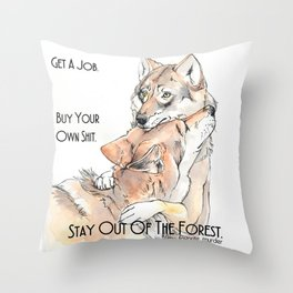 MFM: Stay Out of the Forest Throw Pillow
