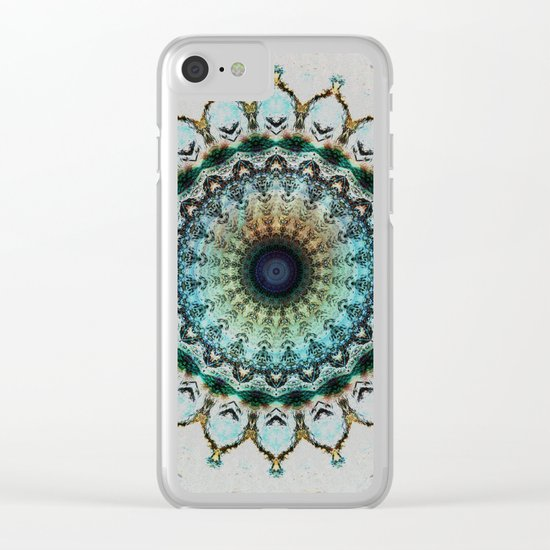 Mandala boho style Clear iPhone Case