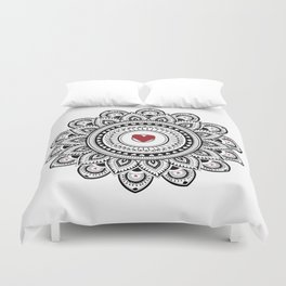 Mandala true love Duvet Cover