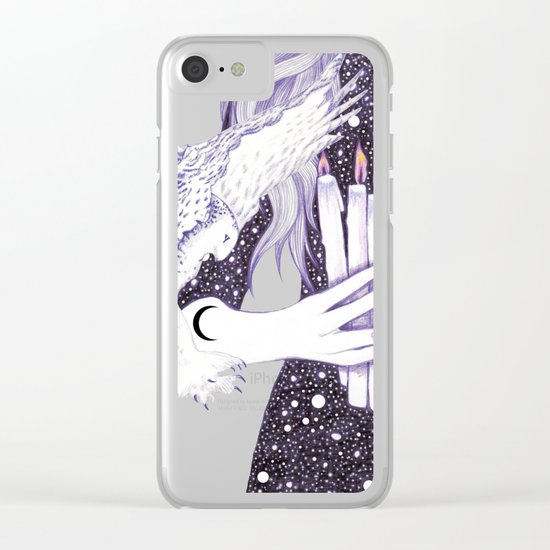 Nightwalker Clear iPhone Case