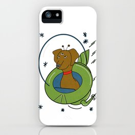 My Dog Is An Alien - Retro, Space Illustration  iPhone Case