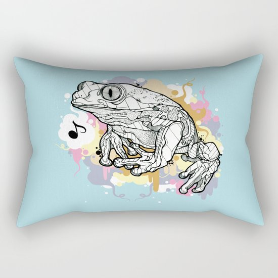 Melodic Frog Rectangular Pillow