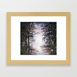 Ghosts in the mountains Framed Art Print