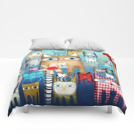Bunch of Cats Comforters
