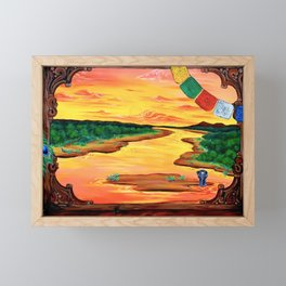Una finestra sul fiume Framed Mini Art Print
