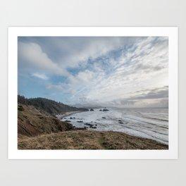 Beautiful Landscape at Ecola State Park Oregon Art Print