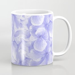 Elegant lavender white faux gold watercolor hydrangea flowers Coffee Mug