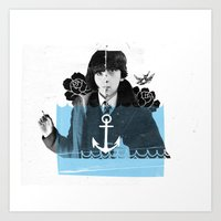 submarine Art Prints featuring Submarine by canthaid