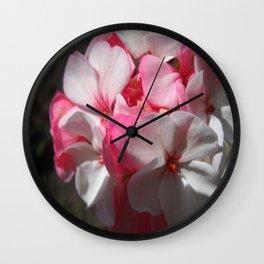 The Geraniums Wall Clock