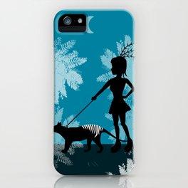 Burlesque girl walks her Tiger iPhone Case
