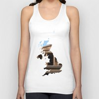 england Tank Tops featuring England by Isabel Moreno-Garcia