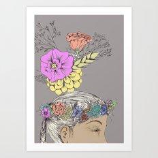 flower dreamer in color Art Print
