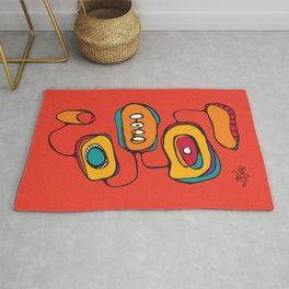 Scribbles 03 in Color Rug