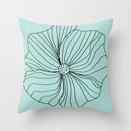 Blue Flower Simple Throw Pillow