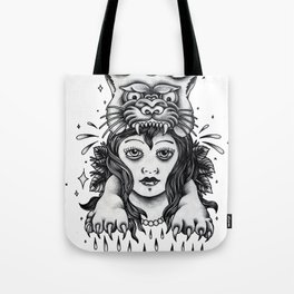 Chica tigre Tote Bag