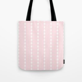 Geometric Droplets Pattern Linked - Pastel Pink and White Tote Bag
