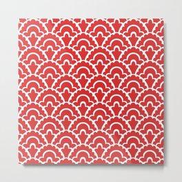 Fan Pattern Red 118 Metal Print