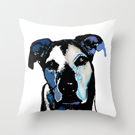 German Shepard Mix Throw Pillow