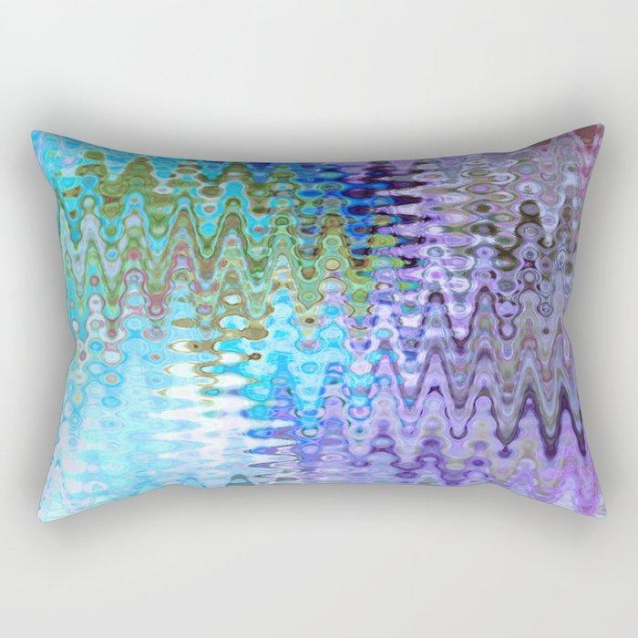 Charming Distractions, Abstract Art Waves Rectangular Pillow