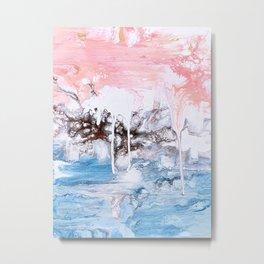 Drippy Waterfall Metal Print
