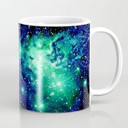 Fox Fur Nebula Galaxy Teal Midnight Blue Coffee Mug