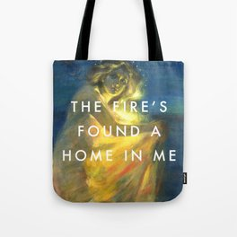 Woman Clothed with the Yellow Flicker Beat Tote Bag