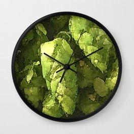 Fresh Cascade Hops Wall Clock