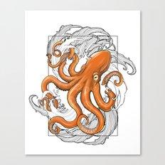 Hexapus Ink 3 Canvas Print