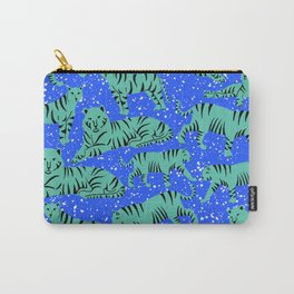 Urban Mod Tiger - teal and electric blue Carry-All Pouch