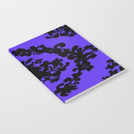 Victorian Damask Purple and Black Notebook