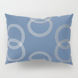 Simply Infinity Link in White Gold Sands on Aegean Blue Pillow Sham