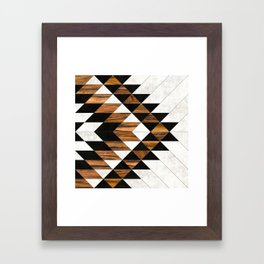 Urban Tribal Pattern No.9 - Aztec - Concrete and Wood Framed Art Print