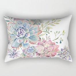 succulent watercolor 6 Rectangular Pillow