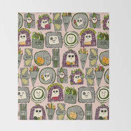 veggie sushi melba Throw Blanket