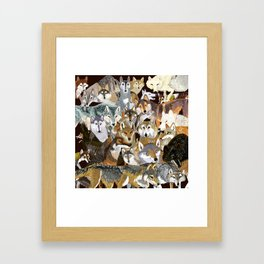 Wolves o´clock (Time to Wolf) Framed Art Print