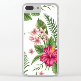 Tropical Flowers vol.3 Clear iPhone Case