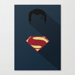 Superman Minimal Canvas Print
