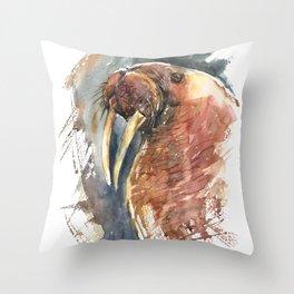 Walrus. Throw Pillow