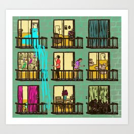 Terrible Neighbors Art Print