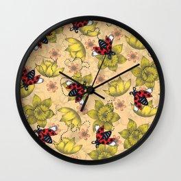 Ladybugs Wall Clock