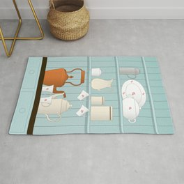 Vintage Kitchen Ilustration Rug