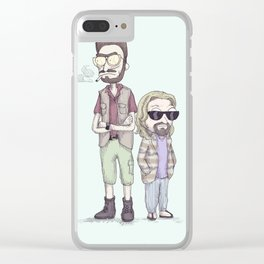 The Schwift Lebowski Clear iPhone Case